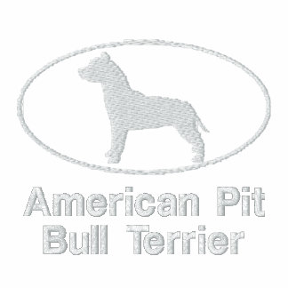 Oval Pit Bull Embroidered Shirt Long Sleeve