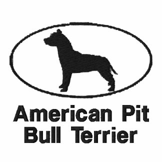 Oval Pit Bull Embroidered Shirt T-Shirt