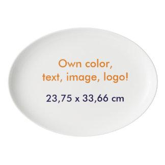 Oval Platter Own Color - uni White Porcelain Serving Platter