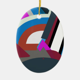 Oval shaped Stylish Abstract Christmas Ornaments
