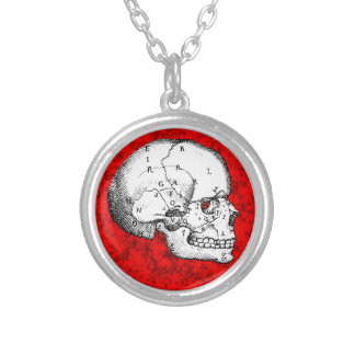 Oval Skull Personalized Necklace