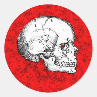 Oval Skull Round Sticker