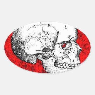 Oval Skull Stickers