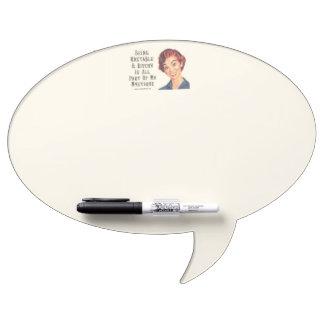 Oval Speech Bubble w/ Pen Dry Erase Boards