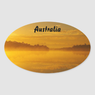 Oval sticker - golden sunrise Australia