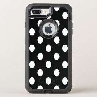 Oval white polka dots OtterBox defender iPhone 7 plus case