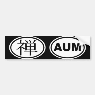 Oval Zen Auto Sticker