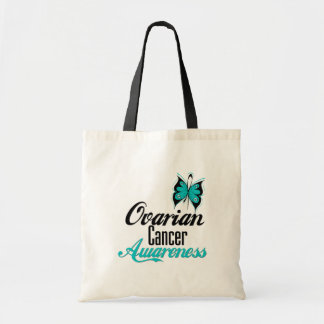 Ovarian Cancer Awareness Butterfly Budget Tote Bag