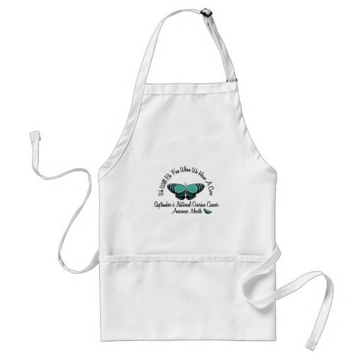Ovarian Cancer Awareness Month Butterfly 1.1 Aprons