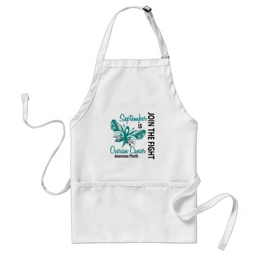 Ovarian Cancer Awareness Month Butterfly 3.1 Apron