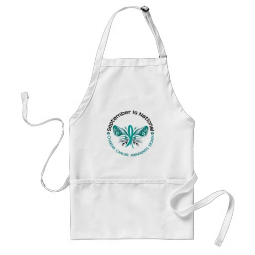 Ovarian Cancer Awareness Month Butterfly 3.3 Apron
