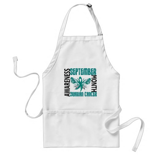 Ovarian Cancer Awareness Month Butterfly 3.4 Apron