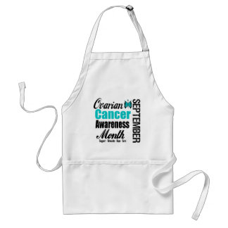 Ovarian Cancer Awareness Month Butterfly 6 Standard Apron