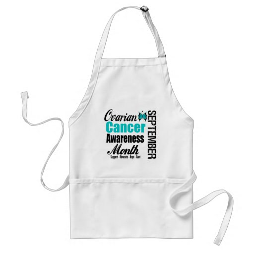 Ovarian Cancer Awareness Month Butterfly 6 Aprons