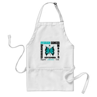 Ovarian Cancer AWARENESS Month Butterfly Standard Apron