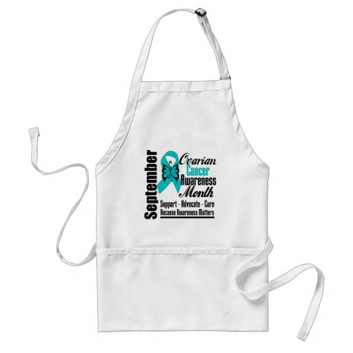 Ovarian Cancer AWARENESS Month Butterfly Ribbon Apron