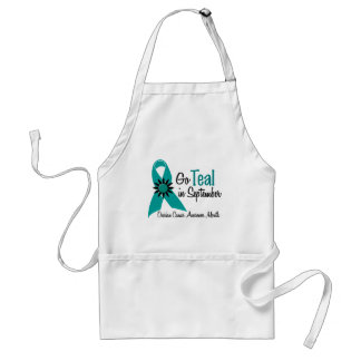 Ovarian Cancer Awareness Month Flowers 2 Standard Apron