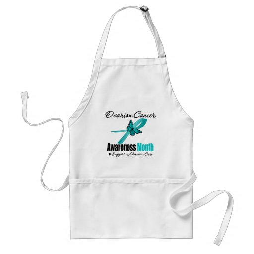 Ovarian Cancer Awareness Month Ribbon Butterfly Aprons