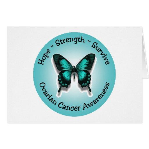 Ovarian cancer awareness notecard greeting cards
