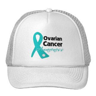 Ovarian Cancer Awareness Ribbon Mesh Hats