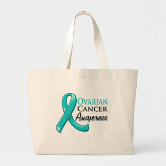 Ovarian Cancer Awareness Ribbon Jumbo Tote Bag