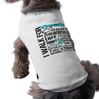 Ovarian Cancer Awareness Walk Sleeveless Dog Shirt