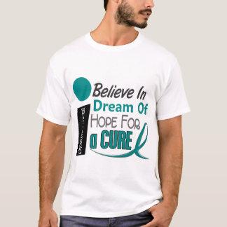 Ovarian Cancer BELIEVE DREAM HOPE T-Shirt