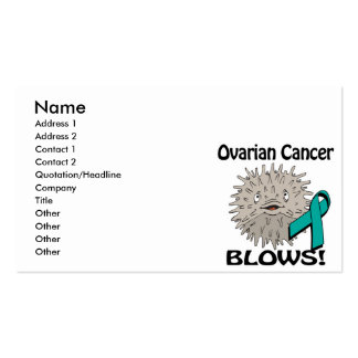 Ovarian Cancer Blows Awareness Design Double-Sided Standard Business Cards (Pack Of 100)
