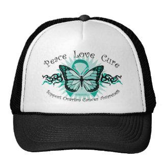 Ovarian Cancer Butterfly Tribal Cap