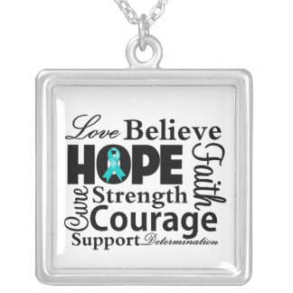 Ovarian Cancer Collage of Hope Custom Jewelry