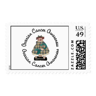 Ovarian Cancer Country Girl 2.3 Postage Stamp