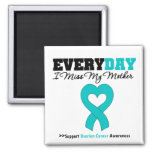 Ovarian Cancer Every Day I Miss My Mother Square Magnet