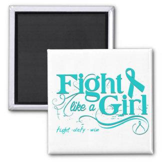 Ovarian Cancer Fight Like A Girl Elegant Magnets