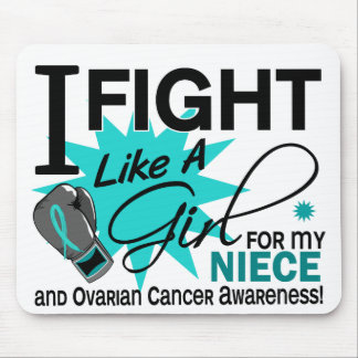 Ovarian Cancer Fight Like A Girl Niece 11 Mousepad