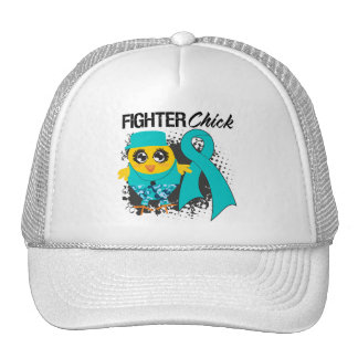 Ovarian Cancer Fighter Chick Grunge Mesh Hats