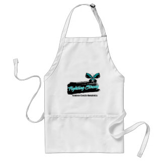 Ovarian Cancer Fighting Strong Butterfly Standard Apron