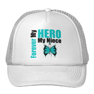 Ovarian Cancer Forever My Hero My Niece Mesh Hats