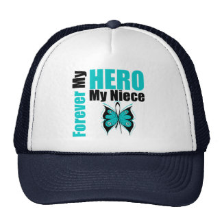 Ovarian Cancer Forever My Hero My Niece Mesh Hat