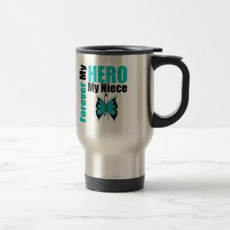 Ovarian Cancer Forever My Hero My Niece Coffee Mug