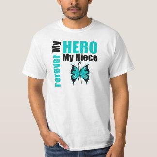 Ovarian Cancer Forever My Hero My Niece Tshirt