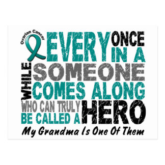 Ovarian Cancer Hero Comes Along GRANDMA Postcard