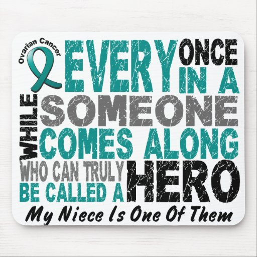 Ovarian Cancer Hero Comes Along NIECE Mouse Pads