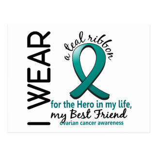Ovarian Cancer Hero In My Life Best Friend 4 Postcard