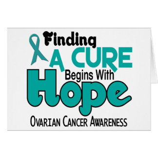 Ovarian Cancer HOPE 5 Greeting Card