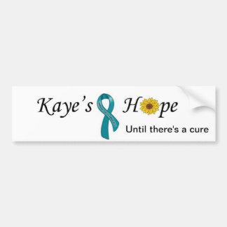 Ovarian Cancer Hope Bumper Sticker