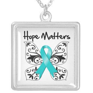 Ovarian Cancer Hope Matters Pendants