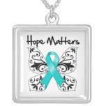 Ovarian Cancer Hope Matters Personalised Necklace