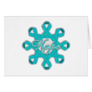 Ovarian Cancer Hope Unity Ribbons Greeting Card