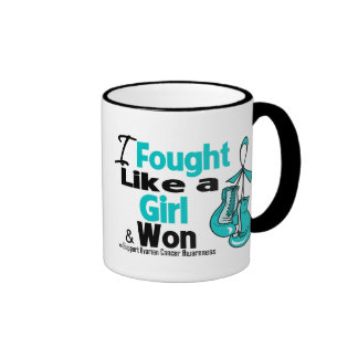 Ovarian Cancer I Fought Like a Girl and Won Mug