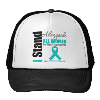 Ovarian Cancer I Stand Alongside All Women Mesh Hats